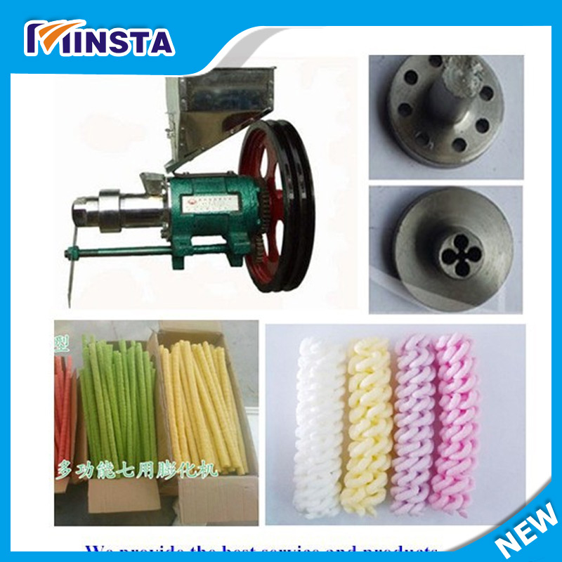 SHIPULE free shipping puffed rice snacks extruder machine with 7 molds with price automatic puffed rice snacks food extruder corn puffing making machine