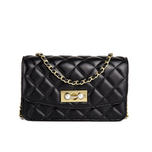 Fashion Style Simple Bag Female Leisure Wild Lingge Pearl Chain Small Square Package Personality Shoulder Messenger
