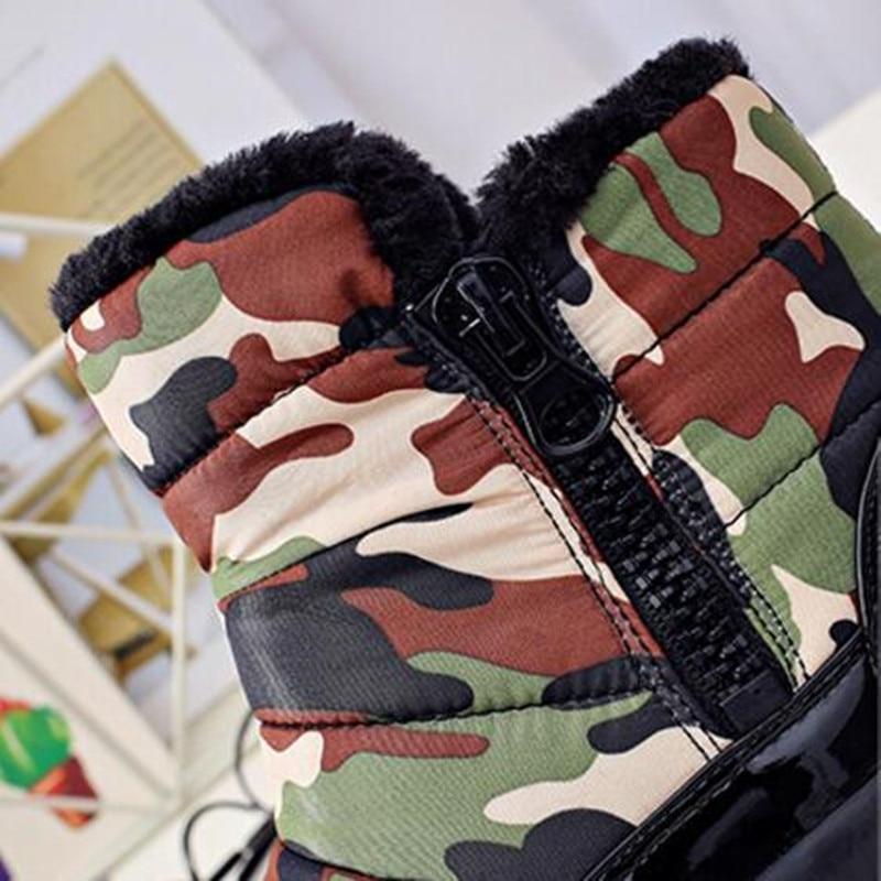 Además Nieve Mujer Algodón Terciopelo Invierno Botas Zapatos De Red Cremallera black 18 Fondo Corto Plano Las green Tubo Grueso Mujeres Cq1Yntw