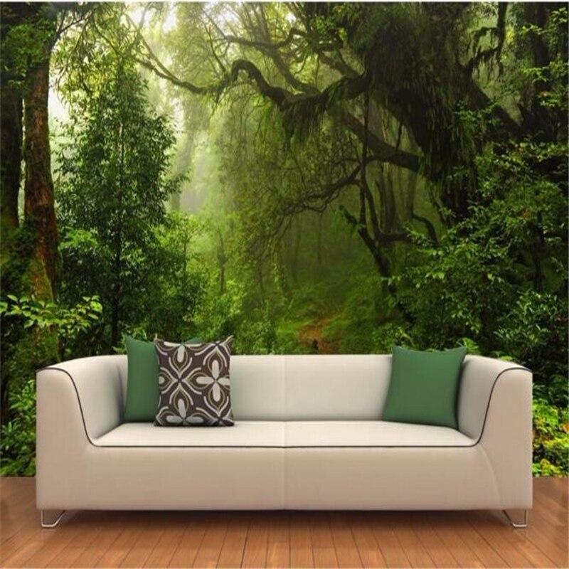 papel de parede 3 d custom any size mural primeval forest wallpaper photo nature landscape for walls