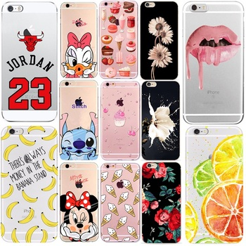 Soft Phone Cover For Coque iphone 6 Case Donut Printed Silicone TPU Thin Shell Funda For iphone 5 se 5s 6s 7 8 7plus