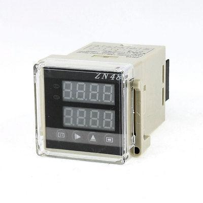 1-9999 Panel Mount Count Up Down Digital Counter Relay AC 220V ac380v panel mount 8p 1 999900 count range digital counter relay dh48j dpdt