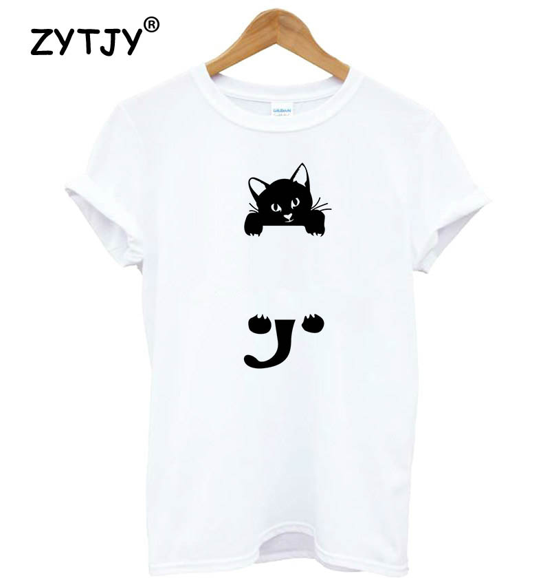 cat climbing Print Women tshirt Cotton Casual Funny t shirt For Lady Yong Girl Top Tee Hipster Tumblr Drop Ship S-25