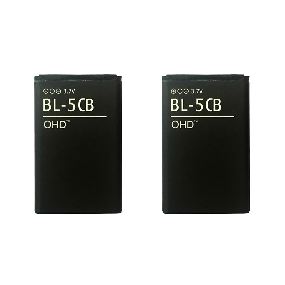 OHD 1 pçs/lote BL-5CB Rechargerable Li-ion Bateria gb/t 18287-2013 Bateria Do Telefone Móvel Para Nokia 1616 C1-01 1600 1800 1208 1209