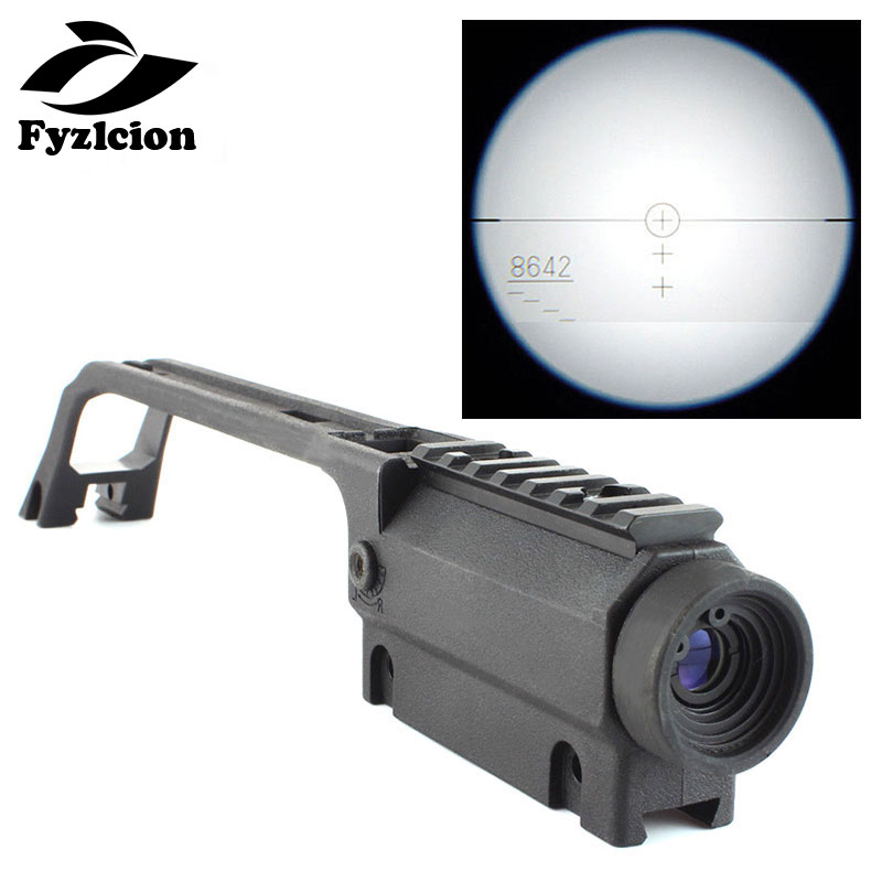 Sports & Entertainment Hunting Gun Accessories Fyzlcion Hunting Base Handle Rifle Scope 3.5x20 G36 For Mp5 Metal Sight Weaver Rail Mount