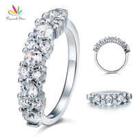 2 5 Carat Created Diamond Solid 925 Sterling Silver Wedding Ring CFR8042