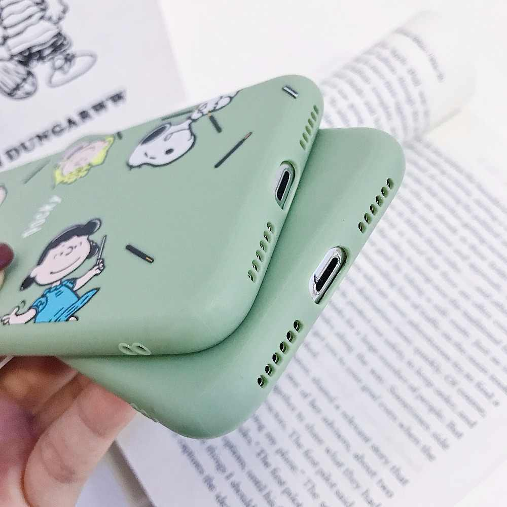 Удачи песики мультфильм телефон чехол для iPhone 6 6s 7 8 большие яркие однотонные Цвета Мягкие силиконовые ТПУ чехлы для iPhone X XR XS Max