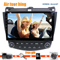 Quad core Android 5.12 Навигация GPS Автомобиля DVD Для Honda Accord 7 2003 2004 2005 2006 2007 С радио wi-fi Bluetooth FM 16 Г 1 Г