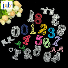 Julyarts 13PCS/SET Age Number 0-8 Paper Craft Dies Scrapbooking Templates New Metal Die Cuts Arrivals 2019