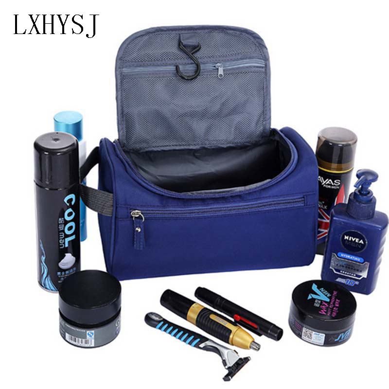 Men Hanging Makeup Bag Nylon Travel Organizer Cosmetic Bag for Women Large Necessaries Make Up Case Wash Toiletry Bag elegant business men toiletry bag travel organizer cosmetic bag necessaries