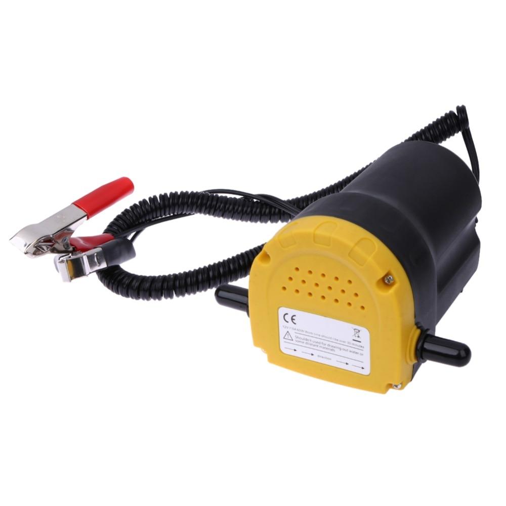 12 V 60 W Auto Olio/Diesel Fluido Coppa Extractor Scavenging di Scambio Pompa di Trasferimento Carburante Barca Moto Pompa Dell'olio automobili Accessori
