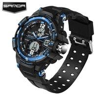 SANDA Military Sport Watch Men Top Brand Luxury Famous Electronic LED Digital Wrist Watches For Men