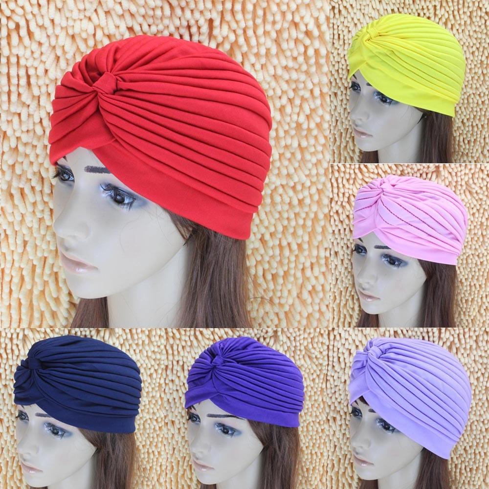 Mode Indian Unisex Head Wrap Cap vrouwen tulband Bandana indian caps - Kledingaccessoires - Foto 3