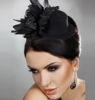 New 2013 Royal Fashion Veil Fascinator Feather Flowers Mini Cocktail Hats Birdcage Visor Bridal Hair Accessories