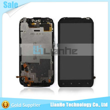 4.3 inch 1 piece free shipping with frame black for lcd HTC Sensation G14 Z710E screen with touch digitizer display complete