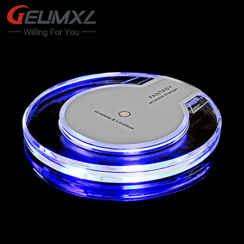 GEUMXL Qi Wireless Charger Pad for Samsung Galaxy S7 S6 edge Note 5 Nokia Nexus 4 Mobile Phone Charging Adapter elephone P9000