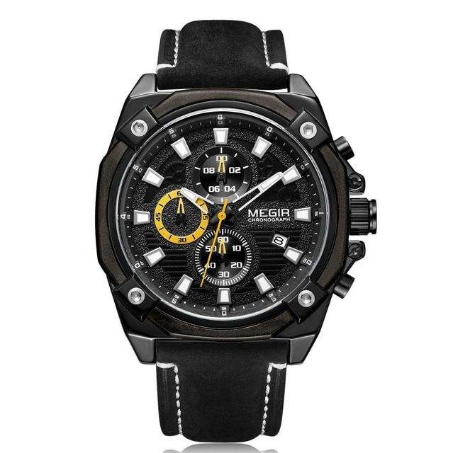 MEGIR Fashion Mens Watches Top Brand Luxury military Quartz Watch Men Casual Mesh Steel Waterproof Sport Watch Relogio Masculino | Fotoflaco.net