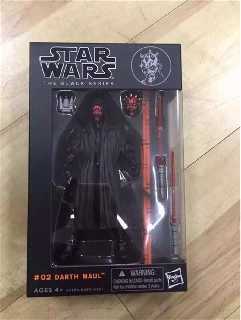 Star Wars The Black Series 3 Boba / Darth Maul 6 PVC Action Figure Anime Comic Gift Toys with Box image