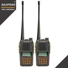 2 шт. Baofeng UV-6R двухстороннее радио сканер 7 Вт УКВ Двухдиапазонный портативный двухканальные рации Ham Радио КВ трансивер удобное радио Amador