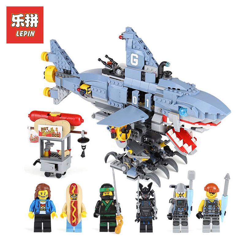 Lepin 06067 The Ninjago Movies Series Garmadon 929Pcs Big Shark LegoINGlys 70656 Model Building Blocks Bricks Toys for children конструктор lepin ninjago акула гармадона 929 дет 06067