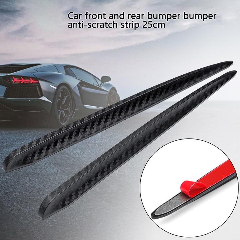 2X Universal Auto Body Bumper Anti-rub Strips Decoration Protector Crash Bar