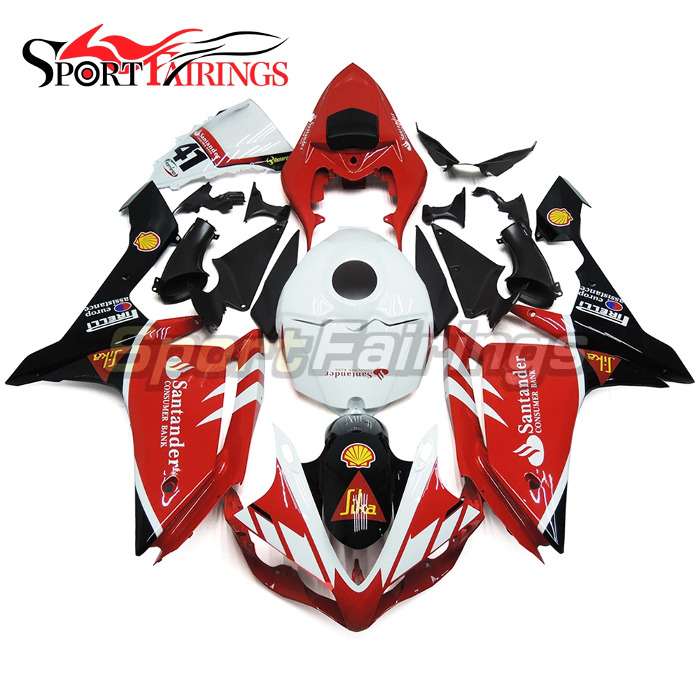 Fairings For Yamaha YZF R1 07 08 2007 2008 Injection ABS Plastics Santander 41 Red Motorcycle Fairing Kits Bodywork Cowlings New
