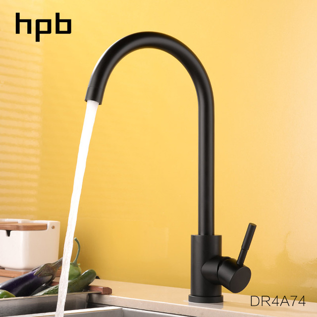 Hpb Lead Free High Arc One Handle Kitchen Faucet Hot And Cold Water