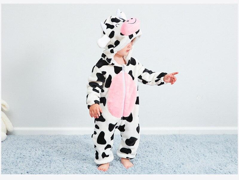 novidade vaca algodão menino menina animal macacão