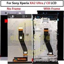 Dla SONY Xperia XA2 Ultra/C8 wyświetlacz LCD ekran dotykowy Digitizer zgromadzenie H3213 zamiennik dla SONY XA2 Ultra LCD z ramką