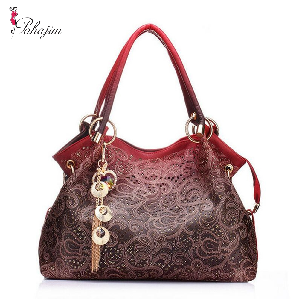 Pahajim Brand 2017 women messenger bags beautiful Women Handbag fashion printing Flowers bag sweet