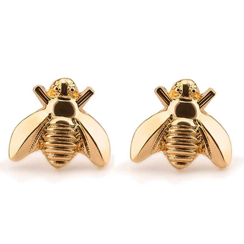Vite prigioniera Carino Piccolo Ape Orecchino Gioielli In Oro/Argento Placcato Honey Bee Orecchini Della Vite Prigioniera Unico Orecchini Gioielli di Moda Per Le Donne