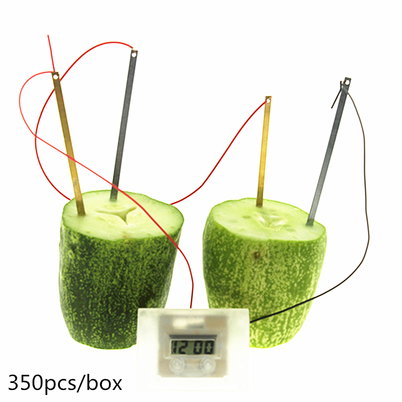 US $353 28 5% OFF|wholesale 350pcs DIY Potato Clock Green Science  Electrochemical Cell Home School Educational Kit,make your own clock kit-in