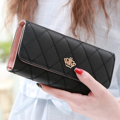 Fashion Women Hand Bags Ladies Coin purse Ling metal Crown Women wallet