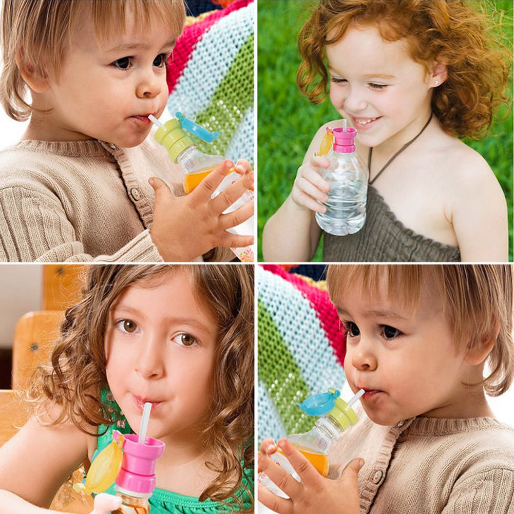 Childrens Portable Spill-Proof Bottle Drinks Straw Cover Children Drinking Protection Tool PP Resin Kids Feeding Drinking Cup