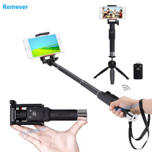 Portable Handheld selfie stick Telescopic Monopod with Bluetooth Remote Shutter For Phone Iphone 5 6 6s 7 Samsung Xiaomi Huawei