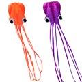 4 m polvo pipa 3d brinquedo único linha conluio/software polvos desenhos animados pipas kite desporto ao ar livre fácil voar orange/roxo