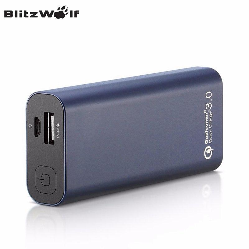 imágenes para Blitzwolf bw-p4 qc3.0 banco portable universal 5200 mah carga rápida de carga rápida para el iphone para el teléfono de xiaomi powerbank