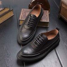 Sapatos vento Britânico Martin sapatos casuais homens sapatos de couro do vintage