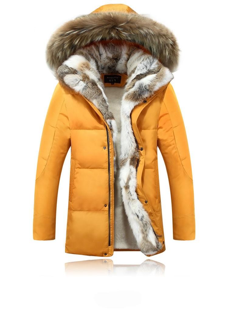 Winter Down Jacket Men Fur Parka Fashion Casual Thicken Warm Fur collar Hooded Men Women jacket&coat couple Down Jacket S-5XL (15)