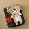 lion Baby cloak Baby cloak Boys and girls shawls bath towels Cartoon coral fleece blankets Pure color with cap