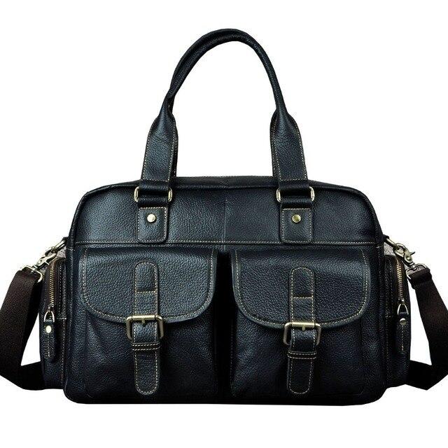 Fashion genuine leather Designer Male travel bag Shoulder Messenger Bag Casual Handbag Tote Document Laptop Bag For Men 061