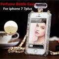 Cadena de botellas de perfume de lujo tpu case para iphone 7/7 plus/6/6 plus/se/5c/5S/4 cubierta para samsung s3 s4 s5 s6 s7 edge note 2 3 4 5