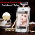 Luxury TPU Chain Perfume Bottles Case For iphone 7/7plus/6/6plus/SE/5C/5S/4 Cover For samsung S3 S4 S5 S6 S7 Edge Note 2 3 4 5