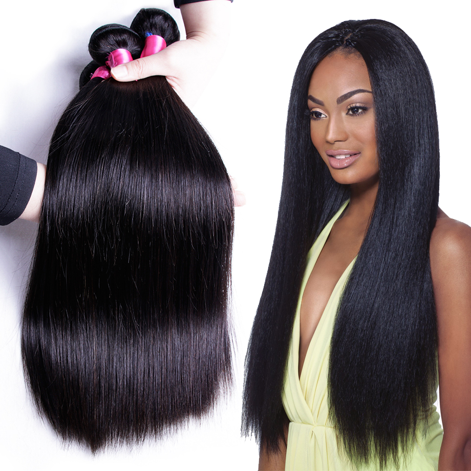 Piaoyi Peruvian Straight Hair Bundles Human Hair Extensions Double Weft Non Remy Hair Weave Bundles 8-26 Natural Color 1 PCS
