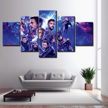 Wall Art HD Picture Home Decoration 5 Piece Movie Avengers 4 Endgame Hero Character For Living Room Printed Type Canvas Painting