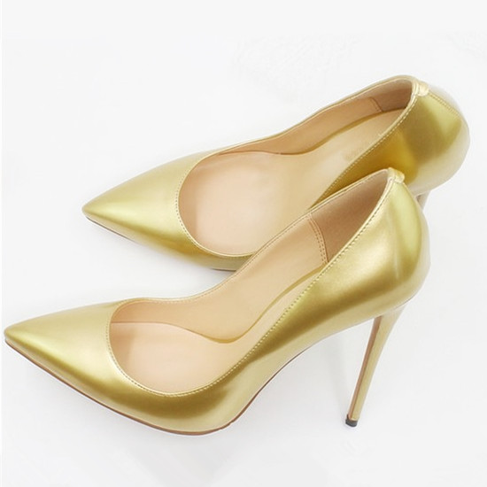 Dropshopping Plus Size Female Women Pumps Sexy High Heels Pointed Toe Shoes Woman Wedding Office Pumps Gold Sliver Shoes D005A in Women 39 s Pumps from Shoes