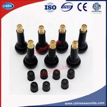 100pC/bag Car Vacuum Rubber Tire Valves TR414 Plastic Cap Tire Valve Cap With Zinc Alloy Valve Core