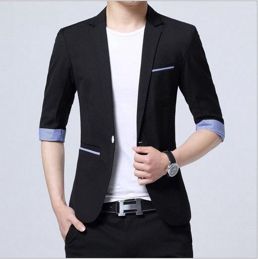 Popular Mens Short Sleeve Blazer-Buy Cheap Mens Short Sleeve ...