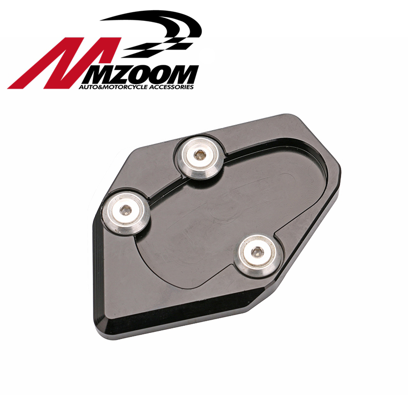 FREE SHIPING side stand enlarger cnc kickstand side stand extension enlarger pate pad For Yamaha TMAX 530 12-16 tmax530 2012-201