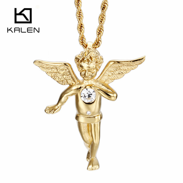 Kalen religious italian gold color angel with wings pendant necklace kalen religious italian gold color angel with wings pendant necklace cheap twisted long chain necklaces mens aloadofball Image collections